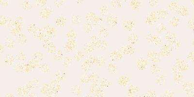 diseño natural de vector naranja claro con flores.