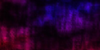 Dark Pink, Blue vector texture with lines, triangles.
