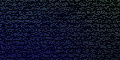 Dark Blue, Green vector background with bent lines.
