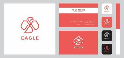 Minimalist Eagle Business Card Template vector
