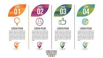 Plantilla de vector de diseño de línea de tiempo moderno de infografía para negocios
