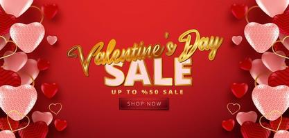 Valentine's day sale 50 off poster or banner