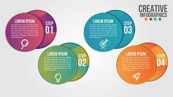 Infographic modern timeline design vector template for business