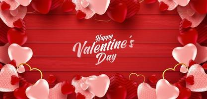 Valentine's day sale poster or banner vector