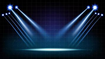 Abstract background stage hall with scenic lights vector