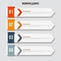 Business Infographic 4-step template banner vector
