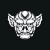 Ilustración de vector de dibujo a mano de cerdo