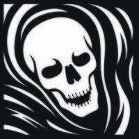 Black and white skull grim reaper vector
