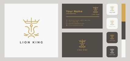 King Lion Business Card Template vector
