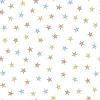 Seamless pattern background with colourful glitter star vector