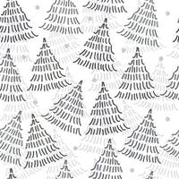 Seamless pattern background with doodle simple pine tree vector