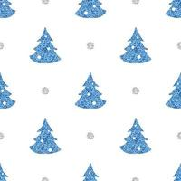 Seamless pattern background with simple pine tree vector