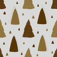 xSeamless pattern background with monochrome cute pine tree vector