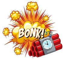 Comic speech bubble with bonk text vector