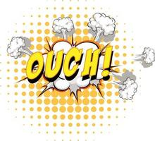 Comic speech bubble with ouch text vector