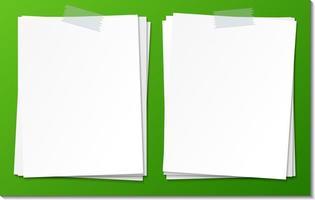 conjunto de plantilla de papel de nota adhesiva vacía vector