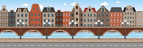 Modern urban city scene vector