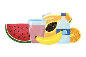 healthy food and drink icons
