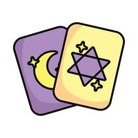 cards with stars magic sorcery vector