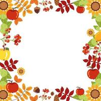 frame with autumn decorations