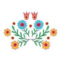 icono de decoración de jardín de hermosas flores