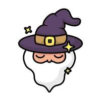magician with hat magic sorcery vector