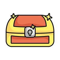 cofre del tesoro, magia, aislado, icono vector