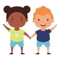 cute little interracial kid characters