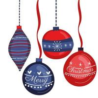 Christmas hanging decorative balls icons