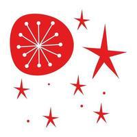 merry Christmas snowflake isolated icon