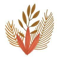 El follaje de otoño deja la naturaleza aislada el diseño de iconos vector