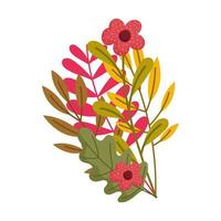 autumn branch leaves flowers nature foliage