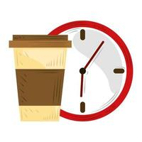 fast delivery service all time coffee bar vector