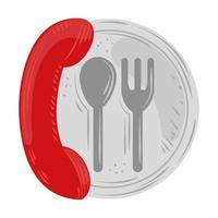 fast delivery service telephone restaurant concept vector