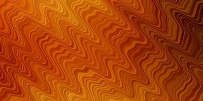 Light Orange vector background with lines.