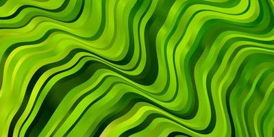 Light Green, Yellow vector background with wry lines.