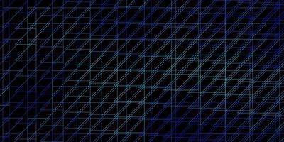 Telón de fondo de vector azul oscuro con líneas.
