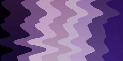 textura de vector púrpura claro con curvas.