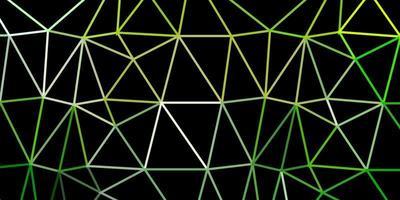 diseño poligonal geométrico verde claro, amarillo del vector.