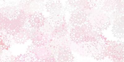 Light red vector background with christmas snowflakes.