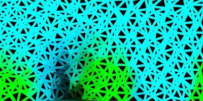 Light blue, green vector geometric polygonal layout.