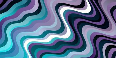 diseño de vector rosa claro, azul con líneas torcidas.