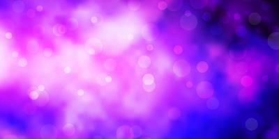 Dark Purple, Pink vector texture with disks.