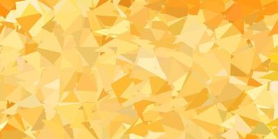 Plantilla de triángulo de poli vector naranja claro.
