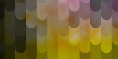 diseño de vector rosa claro, amarillo con líneas.