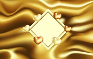 Elegant Love Background with Molten Gold Effect vector