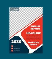 plantilla de volante de negocios de informe anual vector