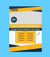 Creative Travel Flyer Design Template vector