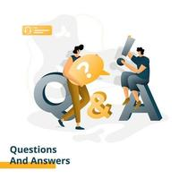 preguntas y respuestas de la página de destino vector