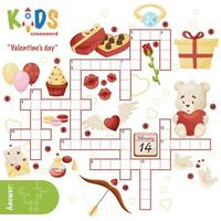 Easy crossword puzzle Valentines day